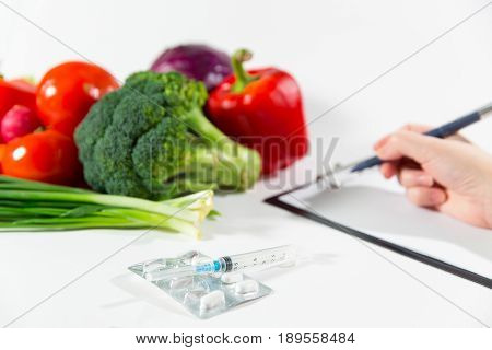 Vegetable Diet Nutrition Or Medicaments Concept