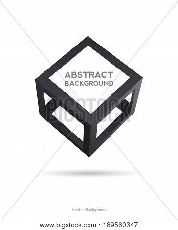 Cube icon 3D frames for your presentation. vector illustration