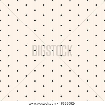 Minimalist seamless pattern, with small hexagons. Vector monochrome geometric texture, abstract repeat background with small hex shapes speckled surface. Design for decoration, furniture, abstract digital background, web pattern