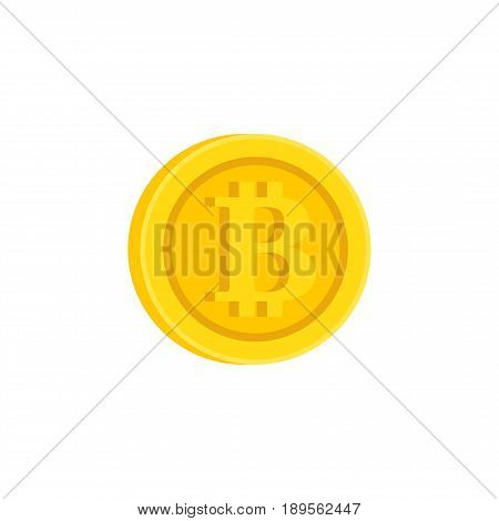 Bitcoin cryptocurrency icon sign icon flat design money symbol illustration