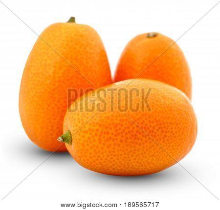 Kumquat fruit on a white background isolated
