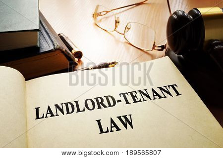 Landlord tenant law on an office table.