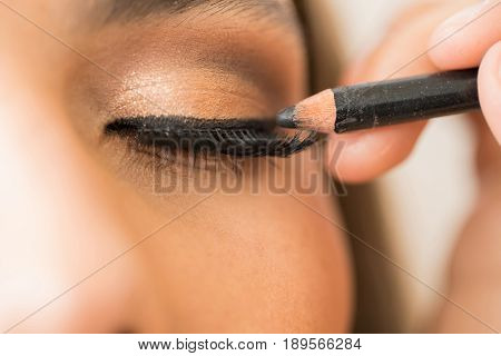 Closeup Of A Woman With Eyeliner
