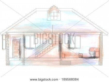 home design isolated on a white background