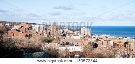Duluth is a major port city in the U.S. state of Minnesota and the county seat of Saint Louis County