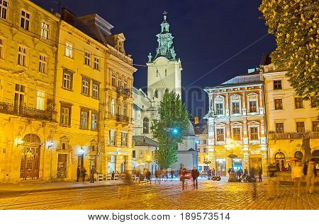 The Landmarks Of Lvov In Evening