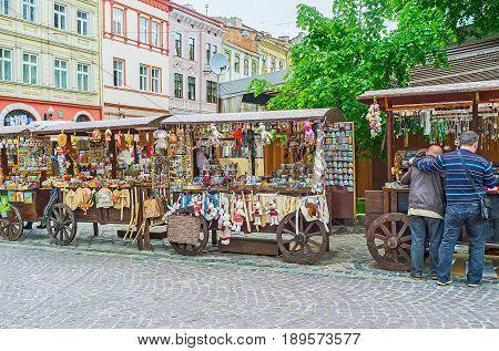 The Souvenir Stalls In Lvov