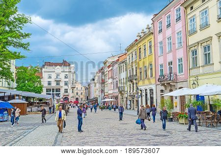The Crowded Square Of Lvov