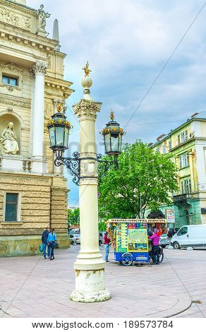 The Old Style Lanterns Of Lvov