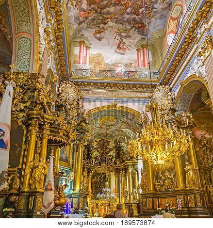 Interior Of Lvov St Andrew Church