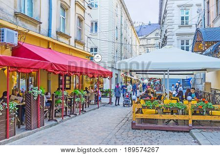 The Summer Cafes Of Lvov