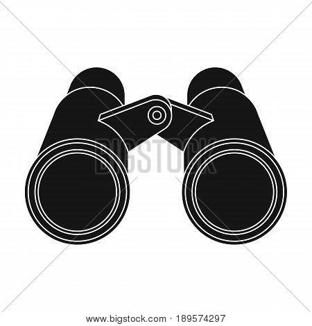 Binoculars for observation.African safari single icon in black style vector symbol stock illustration .