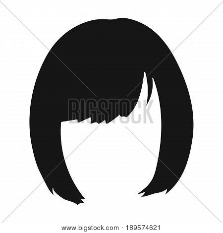 Square.Back hairstyle single icon in black style vector symbol stock illustration .