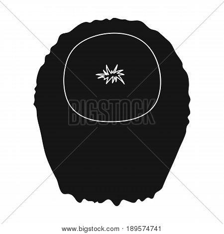 Dark short.Back hairstyle single icon in black style vector symbol stock illustration .