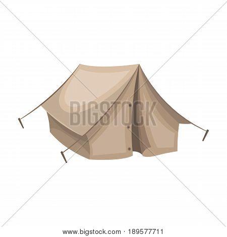 Tourist tent.African safari single icon in cartoon style vector symbol stock illustration .