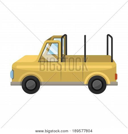 Machine for safari.African safari single icon in cartoon style vector symbol stock illustration .