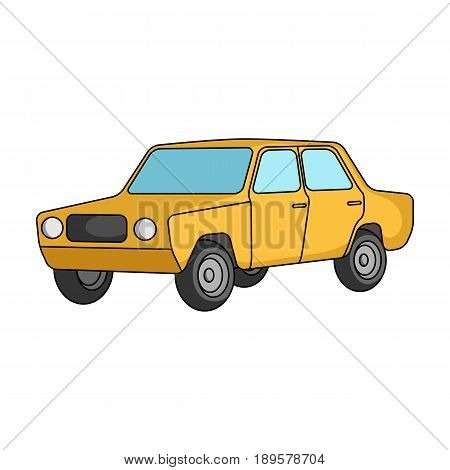 Old car.Car single icon in cartoon style vector symbol stock illustration .