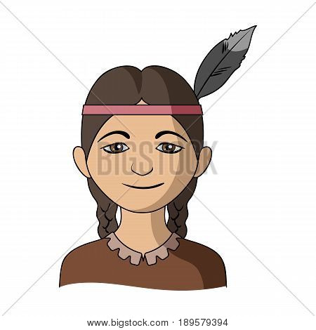 Indian.Human race single icon in cartoon style vector symbol stock illustration .