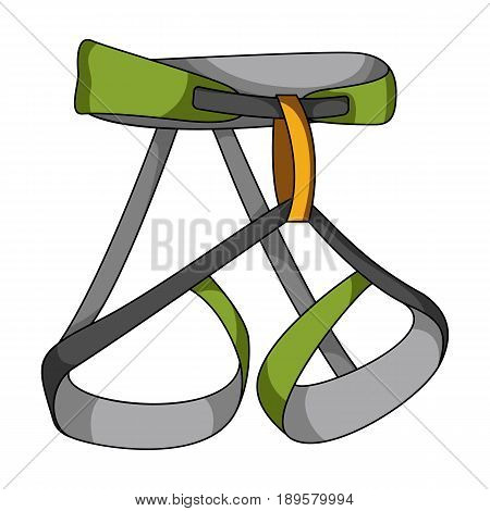 Climbing strapping, insurance.Mountaineering single icon in cartoon style vector symbol stock illustration .