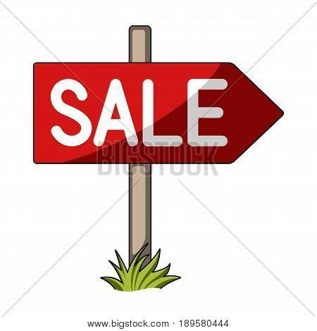 Signboard sale.Realtor single icon in cartoon style vector symbol stock illustration .