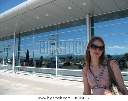 Female At The Airport