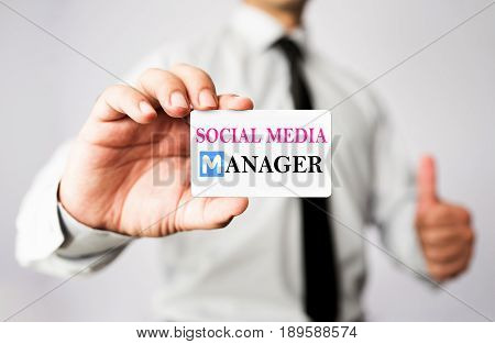 Social Media Manager Is Showing His vCard