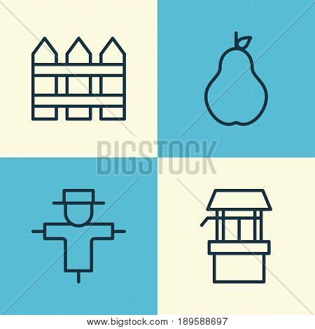 Garden Icons Set. Collection Of Duchess, Bugbear, Barrier And Other Elements. Also Includes Symbols Such As Protection, Bugbear, Barrier.