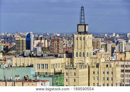 Daytime aerial view of the Buenos Aires city Argentina.