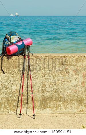 Trekking Hike Gear Equipment For Travel Outdoor
