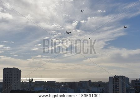 Argentine Air Force during the celebrations of the 207th anniversary of the May Revolution in Buenos Aires.