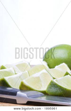 Fresh Lime Wedges (Vertical)