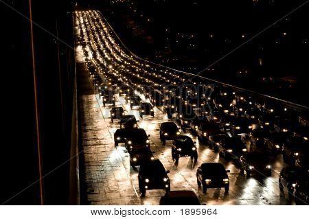 Oncoming Night Traffic