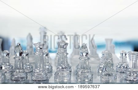 Chess Game With Crystal And Copy Space