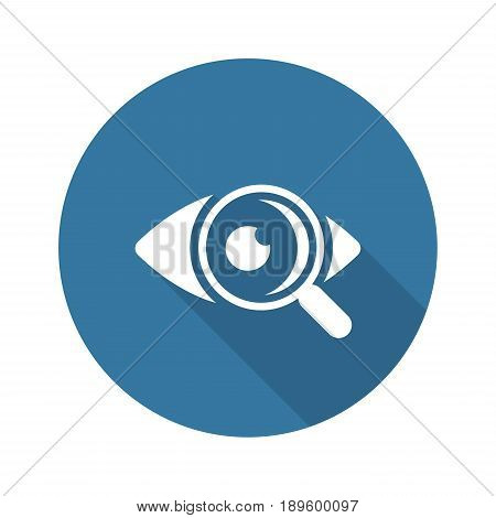 Ophthalmology and Medical Services Icon. Flat Design. Isolated.