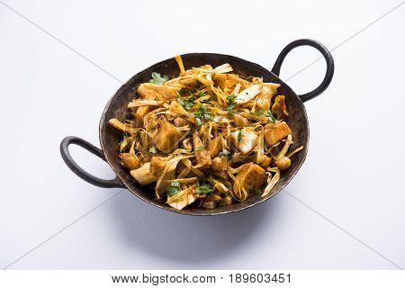 Kathal ki Sukhi Sabzi or jackfruit vegetable recipe of fanas chi bhaji or phanas ki sabzi