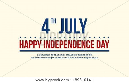 Independence day background style vector collection stock