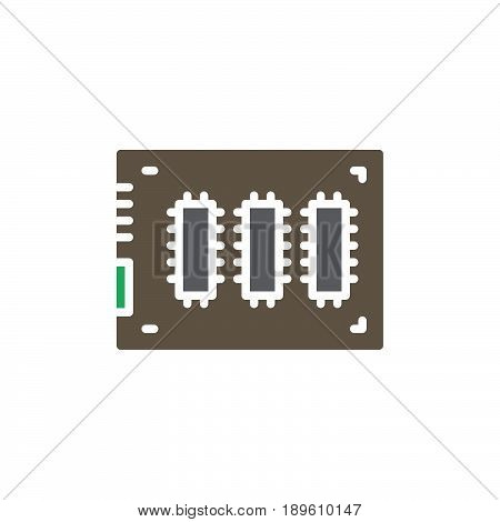 SSD Solid state drive vector icon colorful sign