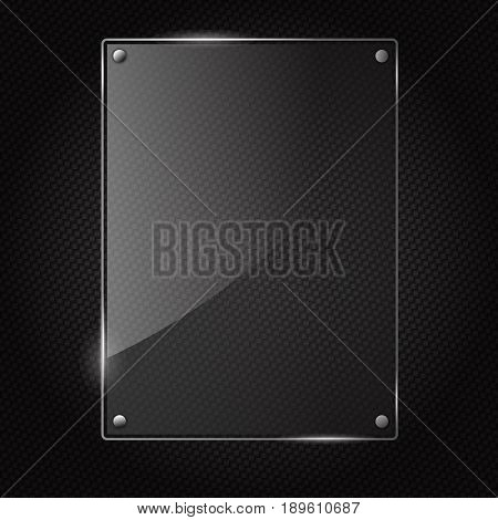 vector illustration of glass or plastic transparent panel on speaker grill texture seamless background