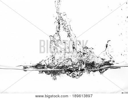 Splashes Of Water On A White Background. Water Jet