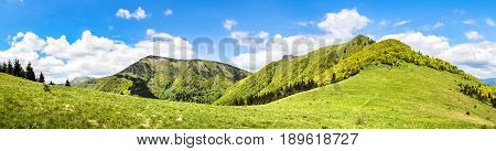 Panorama From Sunny Spring Little Fatra Hills - Slovakia