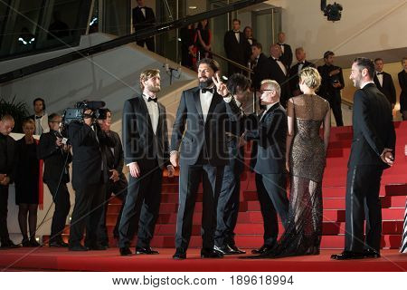 J. Krisch, S. M. Chancrin, D. Moschitto, Fatih Akin, Diane Kruger attend In The Fade premiere at the 70th Festival de Cannes.