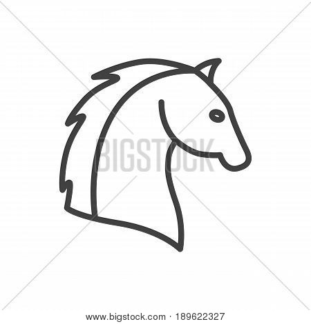 Isolted Steed Outline Symbol On Clean Background. Vector Horse Element In Trendy Style.