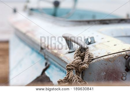 moored boat near the sea in autumn poster