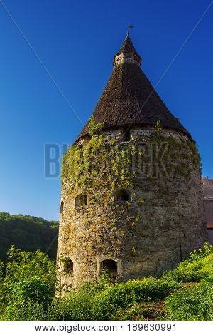 The Pottery Tower of Kamyanets Podilskiy Ukraine.