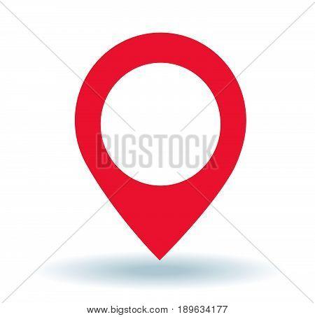 Map pointer. GPS location symbol.vector illustration art