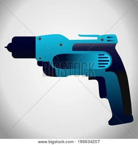 hand drill isolated vector illustration on grey background