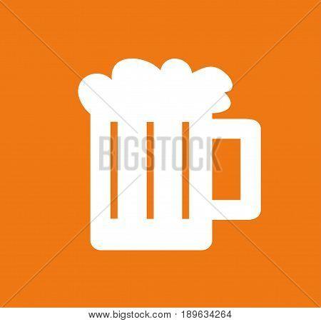 illustration of a glass of beer design