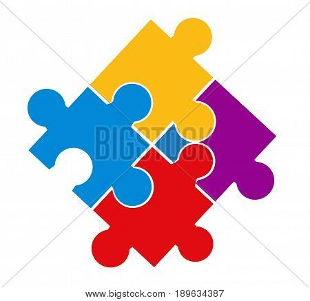 illustration of puzzle pieces on white background