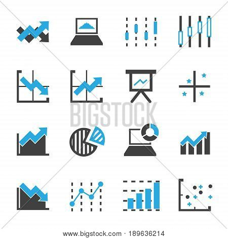 graph icon vector for business commercial market stock