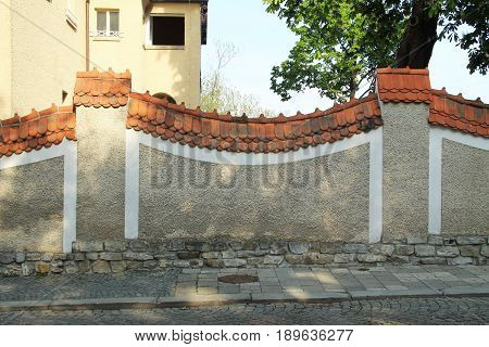 nice decorative wall in Olomouc, Czech Republic